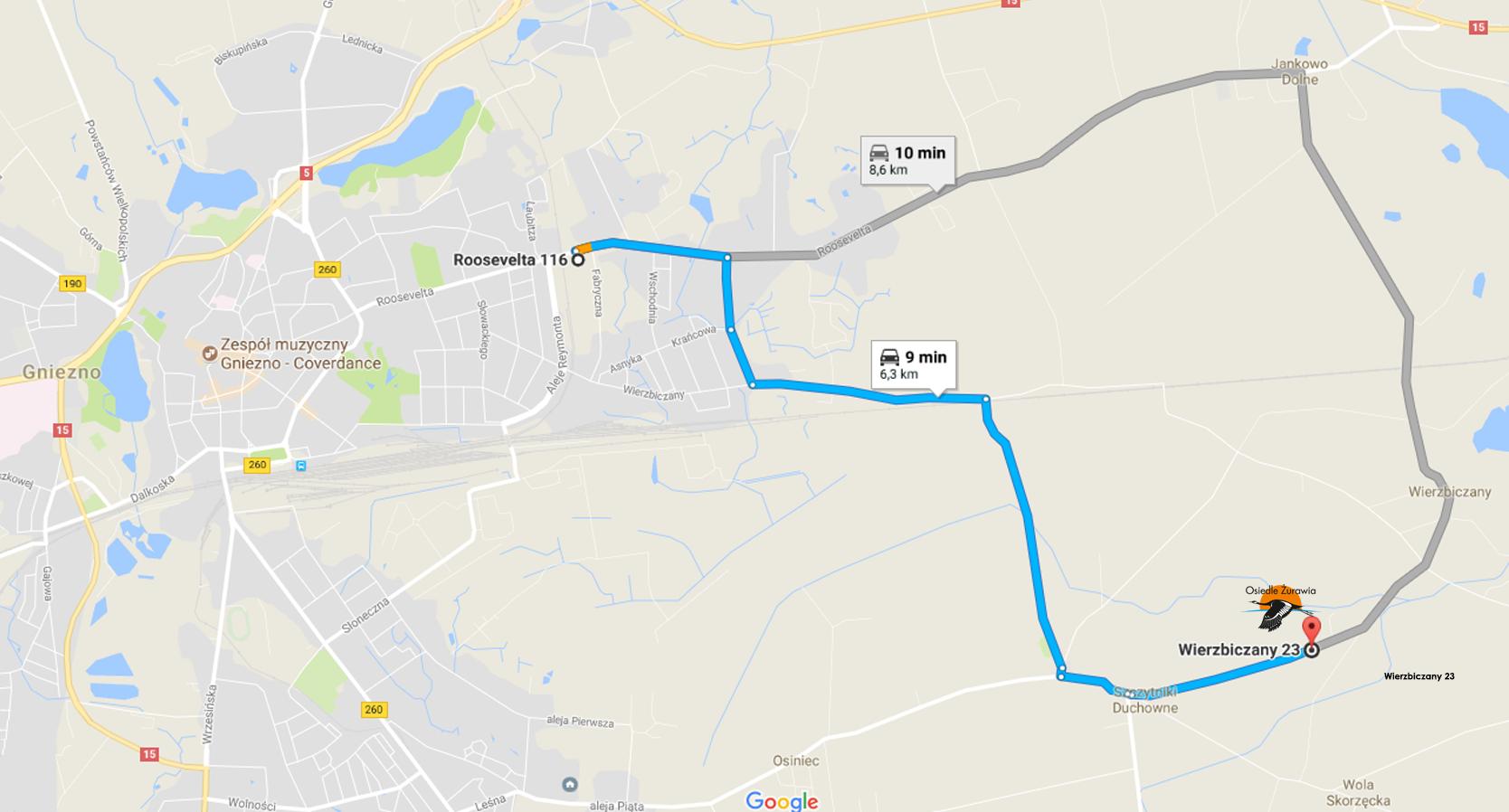 Mapa dojazdowa